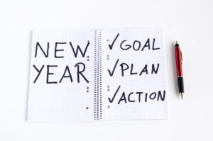 Notebook for New Year's resolutions